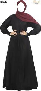 "Mini Umbrella-cut WITH 15"" ZIP Dubai Abaya/Burqa is MadeBy Excellent Nida Fabric"