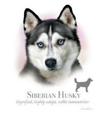 "SIBERIAN HUSKY with Phrase. Picure 10""x10.5"" within18"" x 22"" FABRIC PANEL to sew"