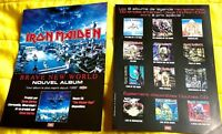 IRON MAIDEN double sided FRENCH promo flyer original 20 x 15 BRAVE NEW WORLD