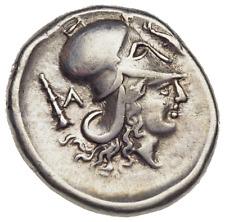 ILLYRIA, Dyrrhachion. After 350 BC. AR Stater, ΔAMEN graffito name!