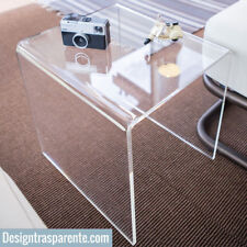 Tavolino in plexiglass moderno basso da salotto 60x30x40 - ALTO SPESSORE