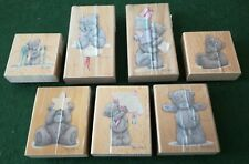 Job Lot 7 Me to You Tatty Teddy Bear Rubber Craft Stamps Stamping Brand New
