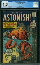 Tales to Astonish #10 CGC 4.0 -- 1960 -- Kirby art. Titano. Atlas. #2008761003