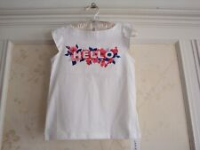 NWT Janie And Jack Girls  HELLO FLORAL TEE TOP SHIRT  6
