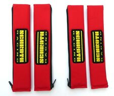 4 pcs Schroth 2 Inch 1 31/32in Belt Pad Racing Patch Belt Protector Red
