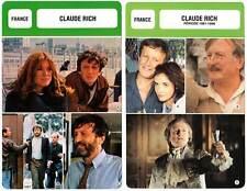 FICHE CINEMA x2 : CLAUDE RICH -  France (Biographie/Filmographie)