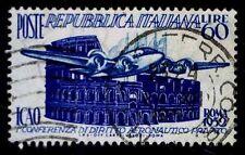 1952 ITALY #611 1ST CIVIL AVIATION CONFERENCE - USED - VF - CV$11.50 (ESP#1470)