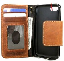 genuine leather case for iphone 5 book wallet pouch handmade cards stand flip s