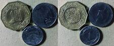 Algeria :Lot 3 Coins 1979 10 Din Gem BU;1997 1+5 Din All BU #110#123#129  IR4961