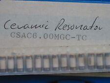 10 x CSAC6.00MG-TC 6MHz Ceramic Resonator MURATA