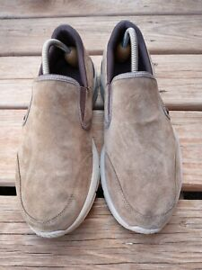 Skechers Mens 232019 Brown Suede Casual Comfort Slip On Shoes Size 10