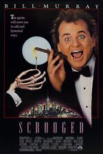 SCROOGED (1988) BILL MURRY ORIGINAL 1 SHEET MOVIE POSTER  -  ROLLED