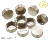10-Pack Protective Metal Covers for UHF Female SO-239 and Female N-Type Jacks