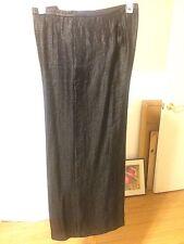 Niteline Women's Wide Leg Pants Metallic Black Plus Size 22