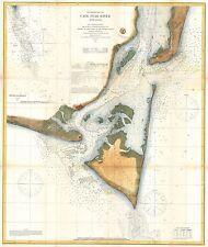 1866  USC.S. Map of Cape Fear and Vicinity North Carolina