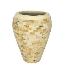 Wuona Balinesische Stein-Vase 60 cm Blumenvase Pflanzkübel Blumentopf Sandstein