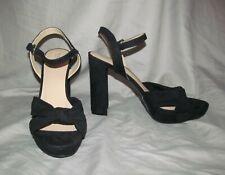 New Mossimo Women's 10M Sexy Black velvet open toe 5 inch heel platform sandals