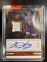 17/18 Panini Dominion De'Aaron Fox RPA 03/49 and 114/199 Metal Plate (2 Cards)