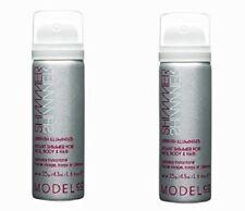 ModelCo Shimmer Airbrush Illuminiser Instant Shimmer Face Body Hair 1.6oz X 2