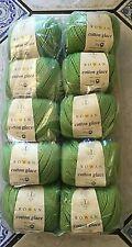 Rowan Cotton Glacé 4 ply Yarn - 10 x 50g balls - Green - New