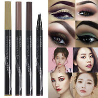 Waterproof Microblading Tattoo Eyebrow Liquid Ink Pen 4 Fork Pencil Brow Definer