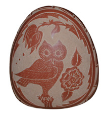 Native American Owl Sgraffito Pottery By Helen Tafoya Henderson Jemez