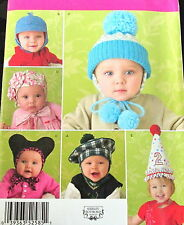 Shirley Botsford craft pattern baby toddler HAT birthday beret knit cap