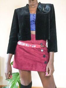 Ladies Vintage Blazer Bolero style Size 8-10 evening formal Work velvet feel