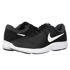 Nike REVOLUTION 4 Mens Black White 001 Running Athletic Training Lace Up Shoes