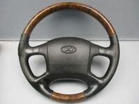 Hyundai Terracan (HP) 2.9 Crdi 4WD Volant 151-17110 Cuir Bois