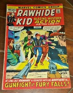 Rawhide Kid #100, (1972, Marvel): Gunfight at Fury Falls!