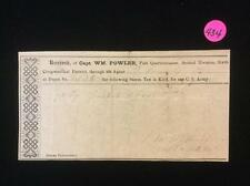 Confederate Army Tax Pay Voucher, October 23, 1894 Lot 434