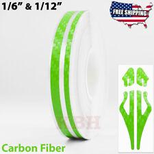 12 Vinyl Double Pinstriping Pin Stripe Tape Sticker 12mm Carbon Fiber Green