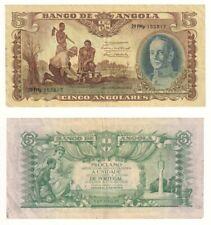 ANGOLA 5 Angolares Banknote (1947) P.77a - VF/VF+.