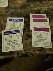 monopoly replacement property cards