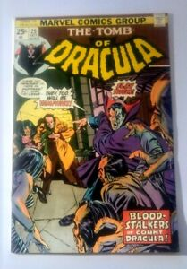 Tomb Of Dracula #25  1st App Hannibal (Marvel 1974)  With Value Stamp  MID GRADE
