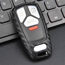 Silicone Carbon Fiber Car Smart Key Case Cover For Audi A4/B9/A5/Q5/Q7/S4/S5/SQ5