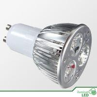 Bombilla LED GU10 3*3W High Power Blanco Puro AC 220V - Únicamente 9W.