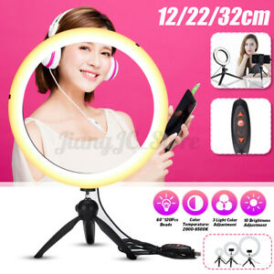 12.6'' 120 LED Dimmable Ring Light for YouTube Selfie Video Make up Lamp Tripod