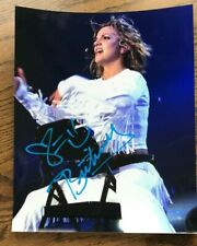 Britney Spears, Signed 8 x 10 Color Stage Photo