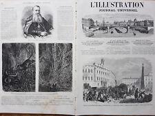 L' ILLUSTRATION 1866 N 1242  DEPART DES TROUPES FRANCAISES DE ROME .