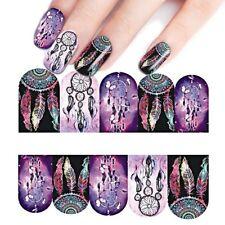 Nail Art Water Decals Transfer Stickers Mystic Purple Dreamcatchers (BN311)