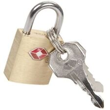 20mm Solid USA TSA Approved Brass Padlock Travel Luggage Suitcase Keys Lock