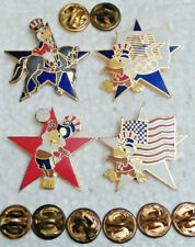 New listing 4 L.A 1984 Olympic Mascot Sam the Eagle Equestrian Flag Volley Ball Lapel Pins