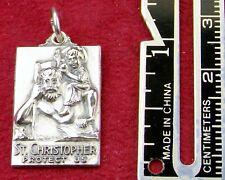Beautiful Vintage Carmelite Nun Sterling St. Christopher Pilgrimage Rosary Medal