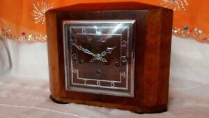 Haller Chiming Clock 1920's (?) Deco Square Face - Westminster Chimes - Multi Co