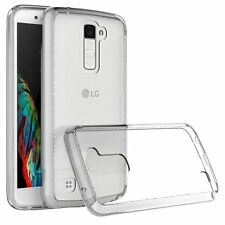 For LG K10 / Premier LTE Clear Case Hybrid Protective Cell Phone Cover Soft Case
