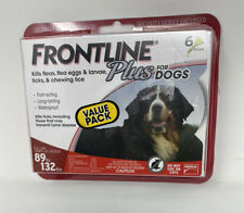 Dogs Frontline Plus 89 to 132 lbs 6 Dose, Flea & Tick Treatment Fast Acting