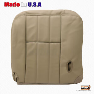 2003 to 2005 Mercury Grand Marquis Front Driver Bottom Leather Seat Cover In Tan