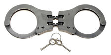 MFH Stahlhandschellen mit Doppelkette Handschellen Handschelle Stahl